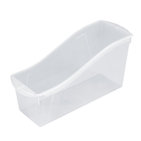 Storex Interlocking Book Bin, Large, 14-1/4 x 5-1/4 x 7 Inches, Translucent Item Number 2023525