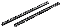 Image for Mead CombBind Binding Spines, 105 Sheet Capacity, For 8-1/2 x 11 Inch Sheets, Plastic, Black, Pack of 125 from School Specialty