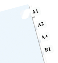Image for Redi Tag Laser Printable Index Tabs, 1 Height x 0.43 Width Inches Tab Size, White, Pack of 600 from School Specialty
