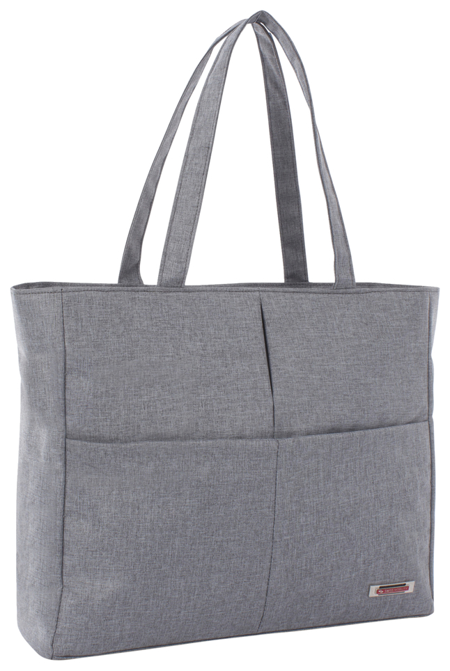 """Image for Swiss Mobility Sterling Carrying Case (Tote) for 15.6"""" Notebook - Gray from School Specialty"""
