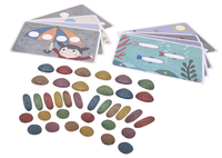Edx Education Junior Rainbow Pebbles, Natural Colors, Set of 36 Item Number 2024759