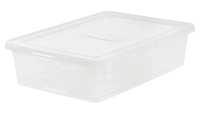 Image for IRIS 28 quart Storage Box, 6 Height x 24 Width x 16.3 Depth Inches, Clear, Each from SSIB2BStore
