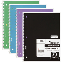 Image for Mead 1 Subject Wide Ruled Spiral Notebook, Pack of 4 from School Specialty