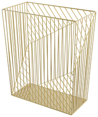 Image for U Brands Gold Trash Can, Each from School Specialty
