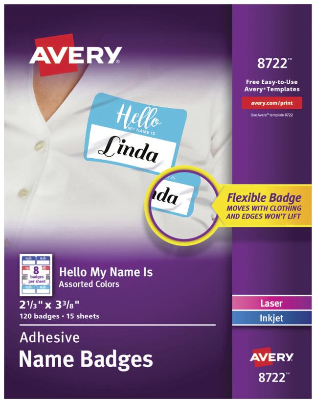Name Badge Labels, Item Number 2025320