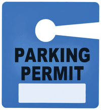 Image for Tatco Parking Permit Sign, Dry Erase Surface, Blue, 2-3/4 x 3 Inches, Pack of 50 from School Specialty