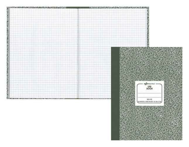 Image for Rediform Lab Composition Notebook, 7-7/8 x 10-1/8 Inches, 60 Sheets, Green and White, Each from School Specialty