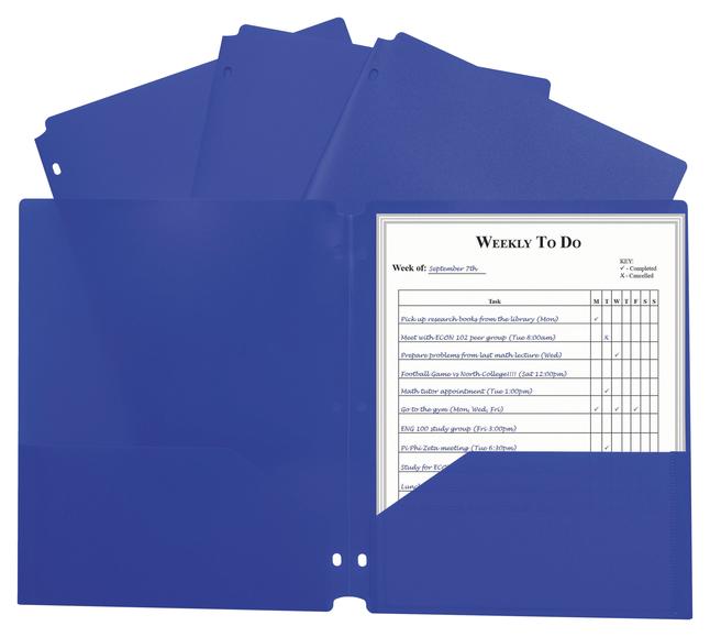 Poly 2 Pocket Folders, Item Number 2025355