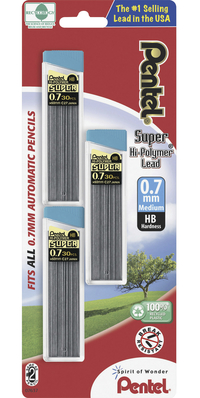 Image for Pentel Super Hi-Polymer HB Lead Refill, Pack of 90 from School Specialty
