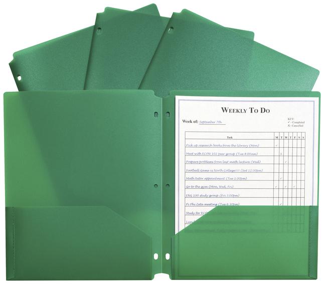 Poly 2 Pocket Folders, Item Number 2025368