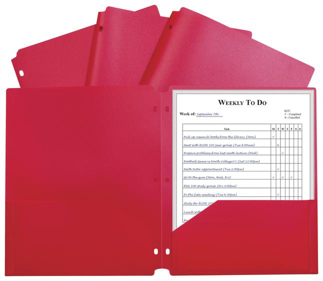 Poly 2 Pocket Folders, Item Number 2025400