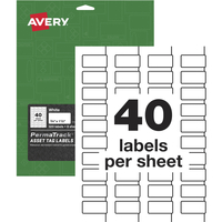 Image for Avery PermaTrack Asset Tag Labels, White, Pack of 320 from School Specialty