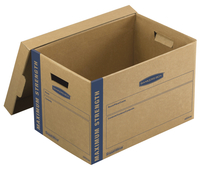 Image for Fellowes Bankers Box SmoothMove Maximum Strength Moving Boxes, Medium, 12 x 12.25 x 18.5 Inches, Pack of 8 from SSIB2BStore