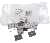 Image for Lorell Mounting Clip, Silver from School Specialty