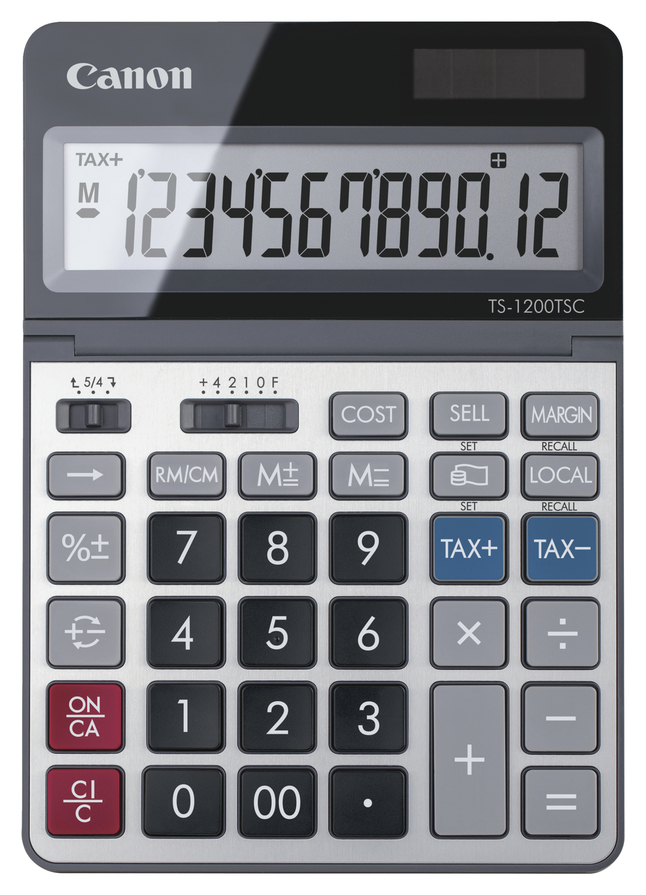 Image for Canon TS1200TSC 12-digit Office Calculator, Black/Silver from School Specialty