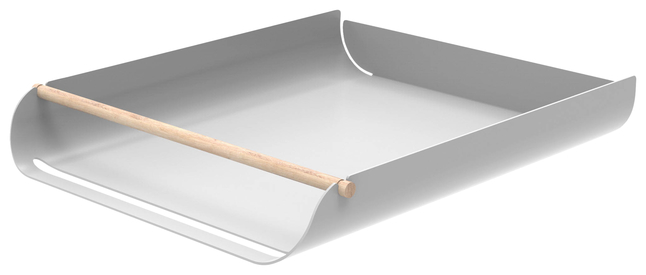 Image for U Brands Arc Stackable Paper Trays, Gray, Each from School Specialty