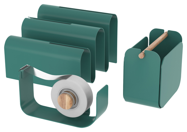 Image for U Brands Arc Desktop Accessory Kit, Green, Each from School Specialty