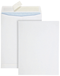 Image for Quality Park Redi Strip Security Mailing Envelopes, White, 9 x 12 Inches, Pack of 100 from School Specialty