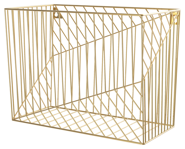 Image for U Brands Gold Hanging File Basket, Each from School Specialty