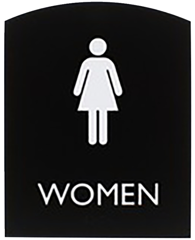 Image for Lorell Restroom Sign, 8.5 x 6.8 x 0.8 Inches, Black from School Specialty