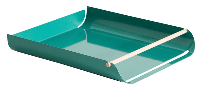 Image for U Brands Arc Stackable Paper Trays, Green, Each from School Specialty