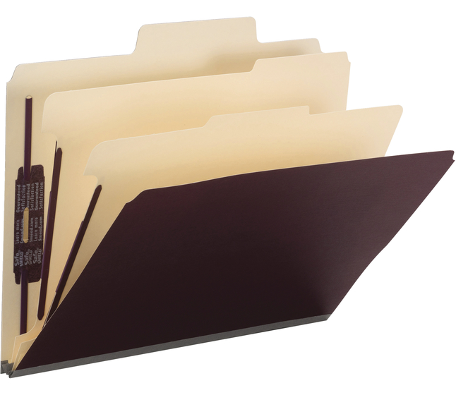 Image for Smead SuperTab Classification Folders with SafeSHIELD Coated Fastener Technology, Pack of 10 from School Specialty