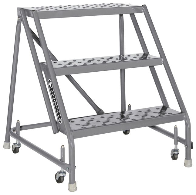 Image for Louisville 3-step Steel Warehouse Ladder from School Specialty