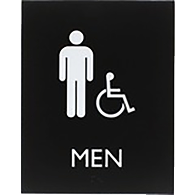 Image for Lorell Restroom Sign, 8.5 x 6.4 x 0.8 Inches, Black, Each from School Specialty