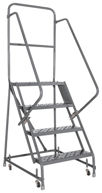 Image for Louisville 4-step Steel Warehouse Ladder from School Specialty