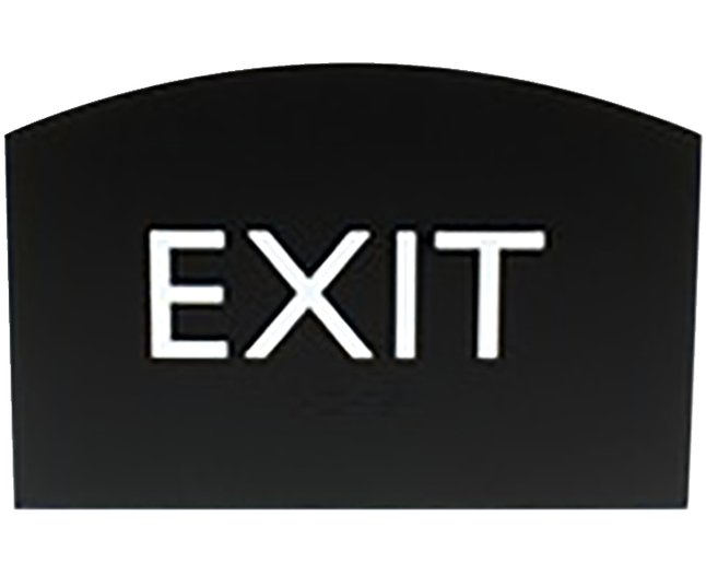 Image for Lorell Exit Sign, 4.5 x 6.8 x 0.5 Inches, Black from School Specialty