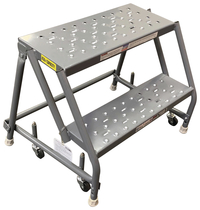 Image for Louisville 2-step Steel Warehouse Ladder from School Specialty