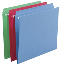 Image for Smead FasTab Straight-cut Tab Hanging Folders, Assorted Colors, Letter, Pack of 18 from School Specialty