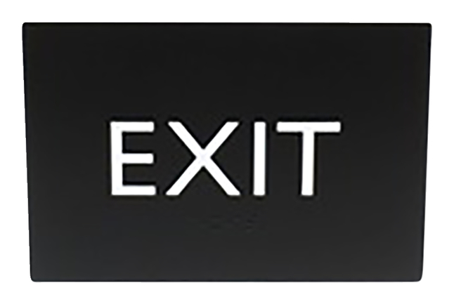 Image for Lorell Exit Sign, 4.5 x 6.8 x 0.5 Inches, Black, Each from School Specialty