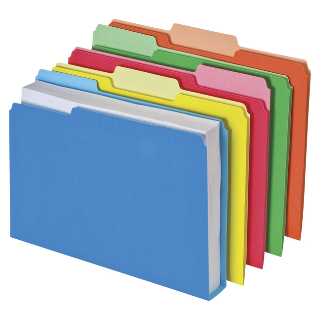 Image for Pendaflex Double Stuff File Folders, Assorted Colors, Letter, Pack of 50 from School Specialty