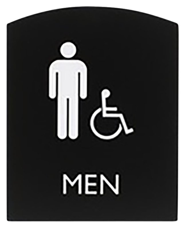 Image for Lorell Restroom Sign, 8.5 x 6.8 x 0.8 Inches, Black, Each from School Specialty
