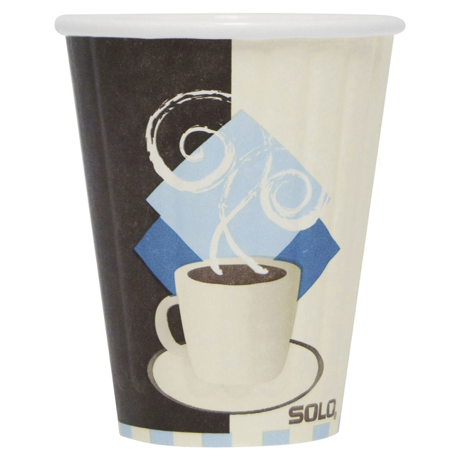 Image for Solo Traveler Paper Hot Cups, Multicolor, 8 Ounces, Pack of 50 from School Specialty