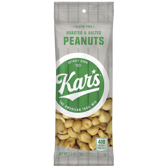 Image for Kar's Nuts Roasted & Salted Peanuts, Pack of 12 from School Specialty