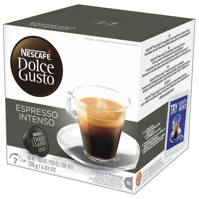 Image for Nescafe Dolce Gusto Expresso Intenso Coffee Pods Pod, Arabica & Robusta, 4.51 Ounces, Pack of 16 from School Specialty