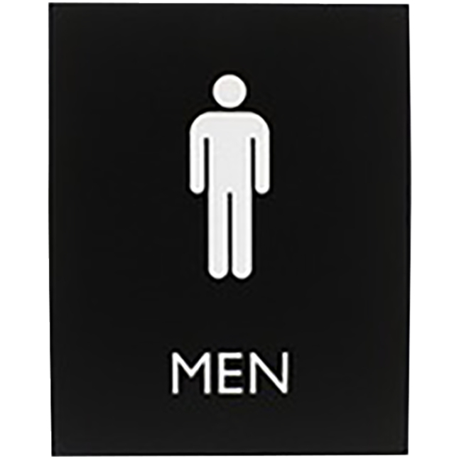 Image for Lorell Exit Sign, 8 x 4 x 0.6 Inches, Black, Each from School Specialty