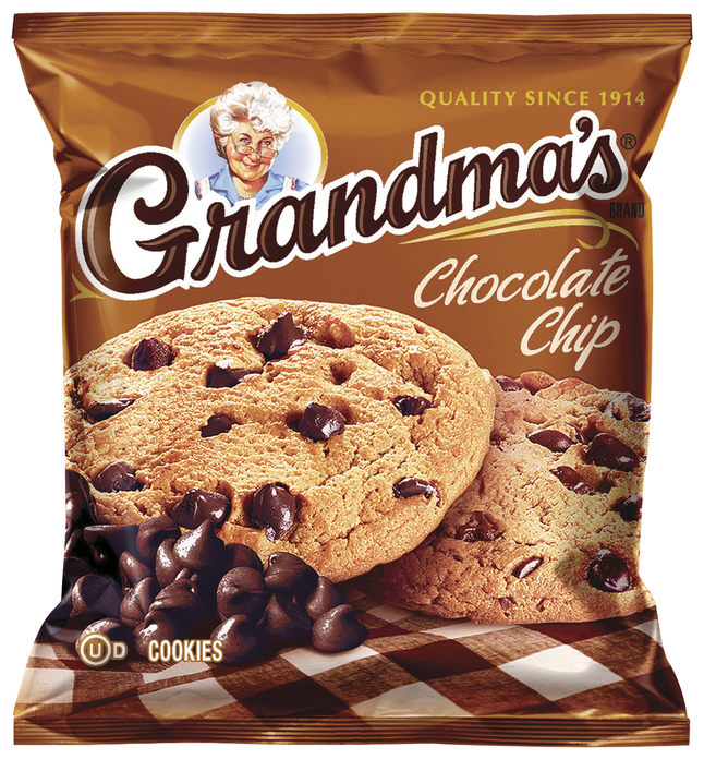 Image for Quaker Oats Grandma's Cookies, Chocolate Chip, Pack of 60 from School Specialty
