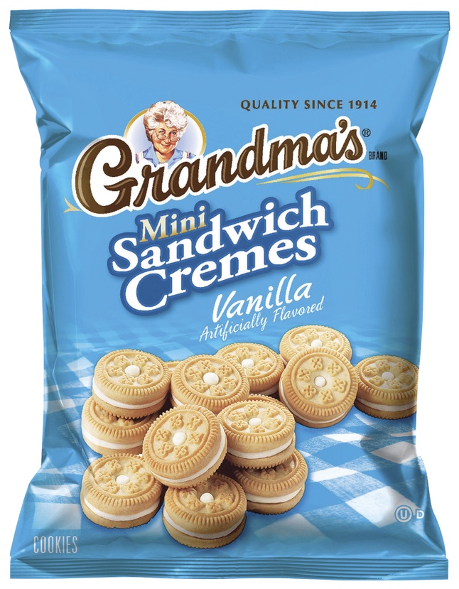 Image for Quaker Oats Grandma's Mini Cookie Cremes, Vanilla, Pack of 60 from School Specialty