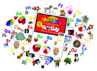 Barker Creek Learning Magnets, A to Z Letters with Pictures, Set of 60 Item Number 2026383