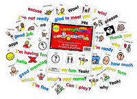 Barker Creek Learning Magnets Social Phrases & Questions, 90 Cards Item Number 2026393