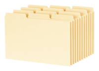 Image for Esselte Blank Index Card File Guide, Pack of 100 from School Specialty