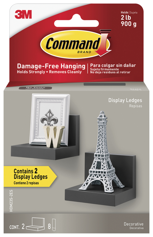 Image for Command Display Ledges, Slate, Pack of 2 from School Specialty