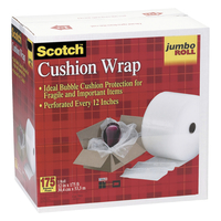 Image for Scotch Jumbo Roll Cushion Wrap, 12.5 Inches x 175 Feet, Clear, Each from School Specialty