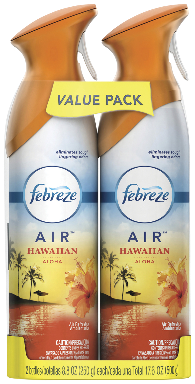 Image for Febreze Air Spray Pack, 8.8 Ounces, Hawaiian Aloha Scent, 2 Count, Pack from School Specialty