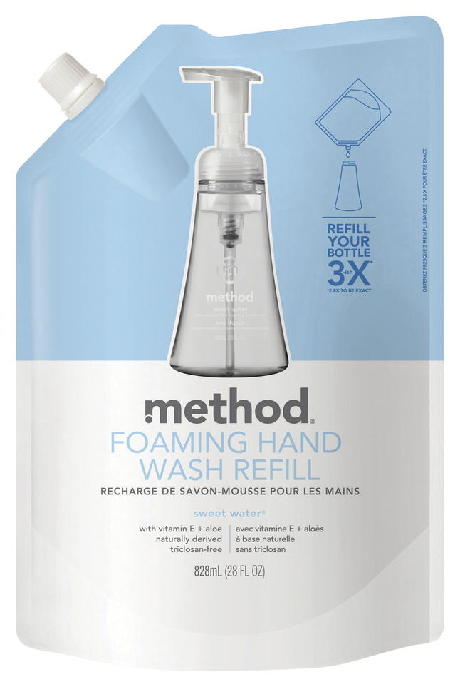 Image for Method Foam Hand Wash Refill, 28 Ounces, Sweet Water Scent, Each from School Specialty