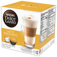 Image for Nescafe Dolce Gusto Coffee Capsules, Latte Macchiato, 16 Count, Case of 2 from School Specialty