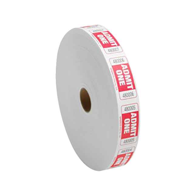 Image for Sparco Admit One Tickets, Red, 2,000 per Roll, Each from School Specialty
